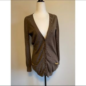 Boden 100% Wool Brown Button-up Cardigan Size 10